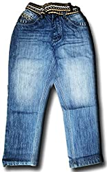 Topchee Kids' Jeans (JNK-14_Blue_9 to 10 Years)