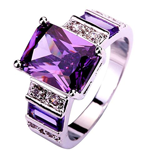 Psiroy Women's 925 Sterling Silver 6cttw Amethyst Filled Ring (Custom Titanium Rings compare prices)
