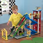 KidKraft Wooden Toy Garage Mega Ramp...