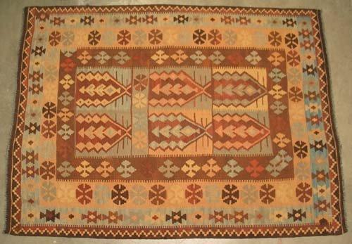 "Hand-woven Maimana Kilim Oriental Area Rug 6'6"" x 4'10"" #10.021"
