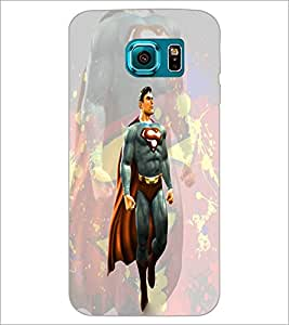 PrintDhaba Superman D-3945 Back Case Cover for SAMSUNG GALAXY S6 EDGE (Multi-Coloured)
