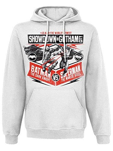 Show down In Gotham City (White) con cappuccio bianco XX-Large