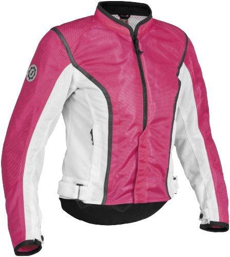 Firstgear Contour Mesh Women's Textile Motorcycle Jacket (Pink/White, X-Large)