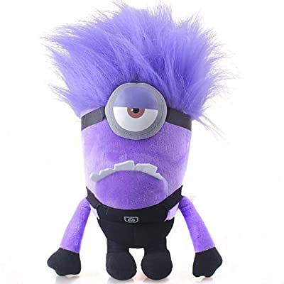 Fireox 10.5 Inch Despicable Me 2 Evil One EYED Purple Minion Plush Toy Bad Minion