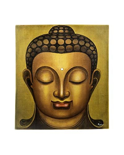 My Spirit Garden Buddha Prada Painting, Gold/Yellow/Red