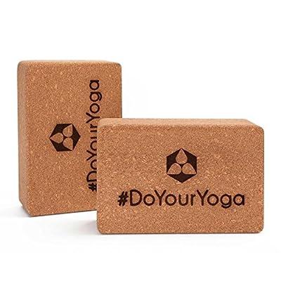 2x Yoga-Korkblock »KinnariÂ« / Yogaklotz aus 100% Natur-Kork, ideal zur Unterstützung spezieller Yoga-Übungen Doppelpack/ Maße: 23 x 15 x 7,5cm
