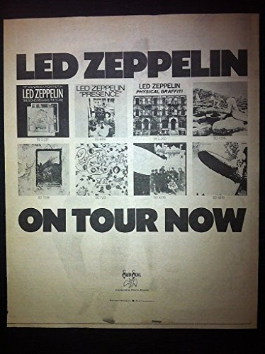 Led Zeppelin Robert Plant Jimmy Page 1977 Concert Poster Type Tour Newspaper Ad