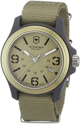 Victorinox Swiss Army Men's 241516 Original Desert Beige Dial and Strap Watch
