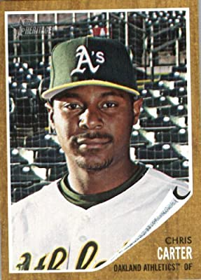 2011 Topps Heritage Baseball Card #254 Chris Carter - Oakland Athletics - MLB Trading Card