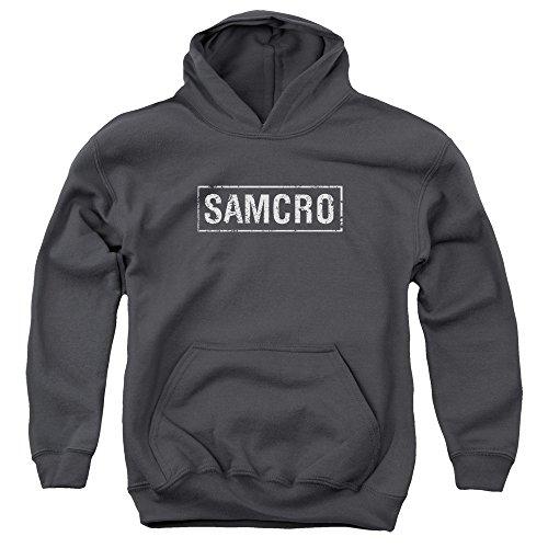 Sons Of Anarchy, Samcro-Felpa con cappuccio per ragazzi Nero  grigio