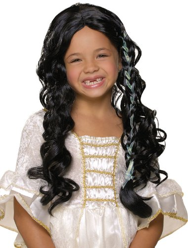 Black Long Wig with One Braid - 1