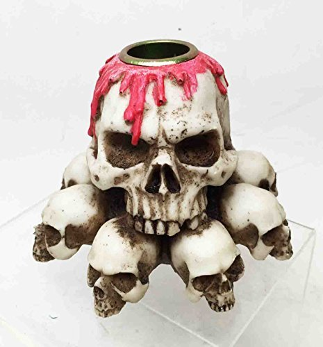 Skull Heaps Graveyard of Death and Blood Tabletop Candle Holder Resin Sculpture by ATL