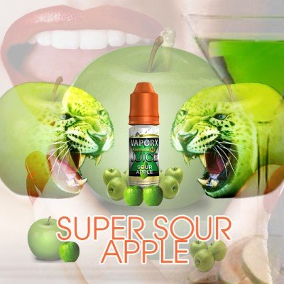 VaporX Sour Apple Flavoring Oil Drop Bottle