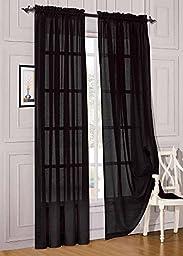 Elegant Comfort® 2 Piece Solid Sheer 60\