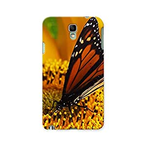 ArtzFolio Monarch Butterfly Sitting On Yellow Sunflower : Samsung Galaxy Note 3 Neo Matte Polycarbonate ORIGINAL BRANDED Mobile Cell Phone Protective BACK CASE COVER Protector : BEST DESIGNER Hard Shockproof Scratch-Proof Accessories