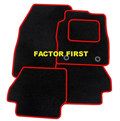 Tailored Car Mats FIAT 500X RED TRIM 4 Clip 15+