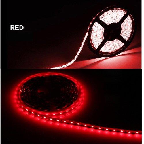 Red Light 1-30M 3528 Smd 60 Leds/M Led Strips Light Non-Waterproof + 12V Power Adapter Pack Of 20M