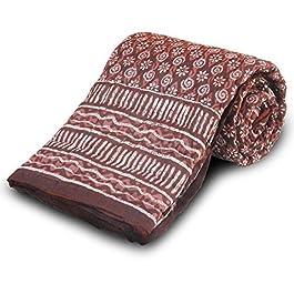 Funda tipo libro de Little India Jaipuri algodón Razai granate de funda de edredón para cama individual