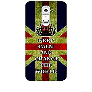 Skin4gadgets Keep Calm and Change the World - Colour - UK Flag Phone Skin for LG G2