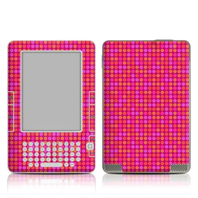 Dots Pink Design Protective Decal Skin Sticker For Amazon Kindle 2 E-Book Reader (2Nd Gen)