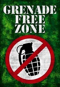 (13x19) Jersey Shore Grenade Free Zone Green TV Poster Print