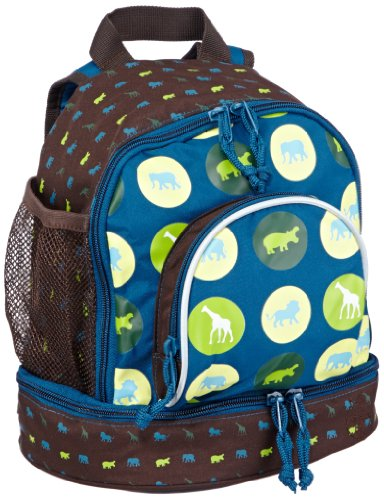 Lassig Mini Backpack, Savannah Print Petrol