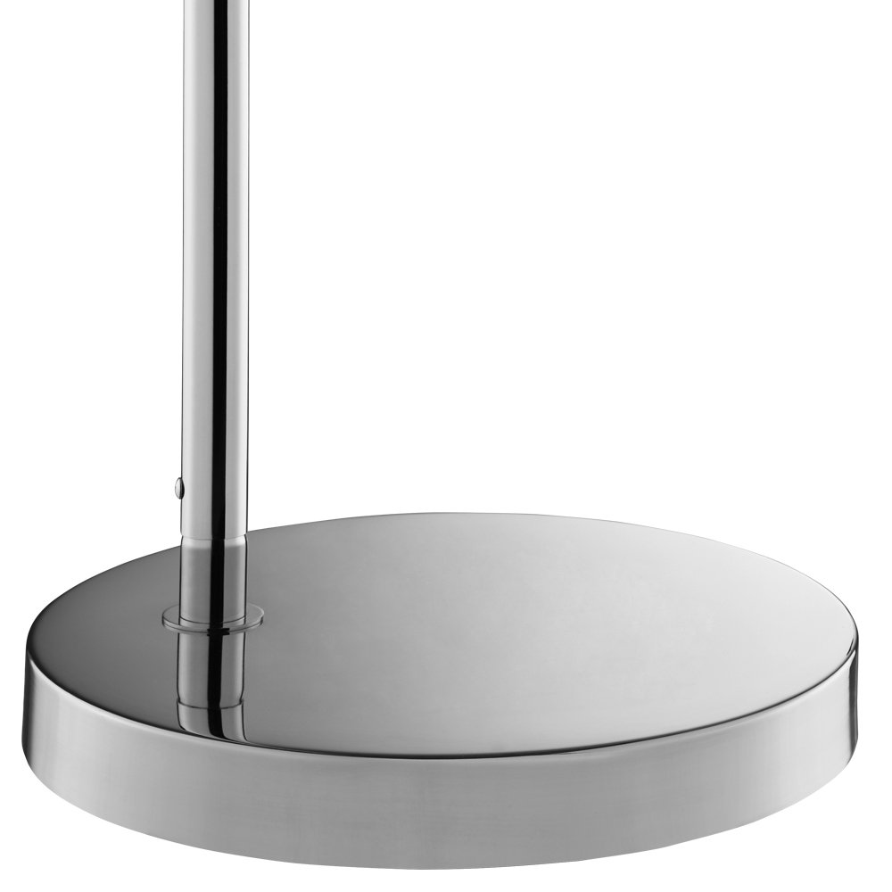 Catalina Silver Chrome Arc Floor Lamp, reading light, 3-way switch,