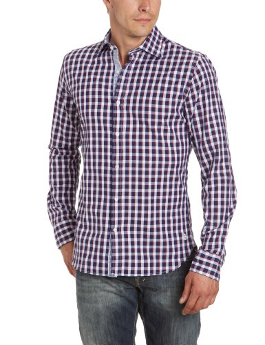 Marina Yachting Men's 220275223930 Casual Shirt Multicoloured (Rot/Weiss/Blau 492) 42