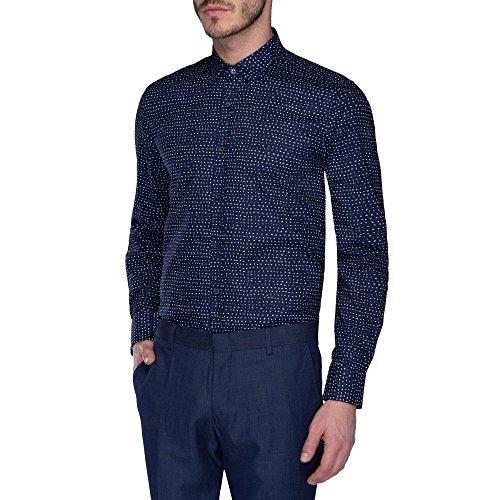 ANTONY MORATO - Camicia slim fit da uomo mmsl00306/fa430159 46 (s) blu