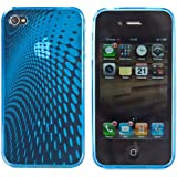 Apple iPhone 4/4S Neon Gel Back Cover Case - Blue