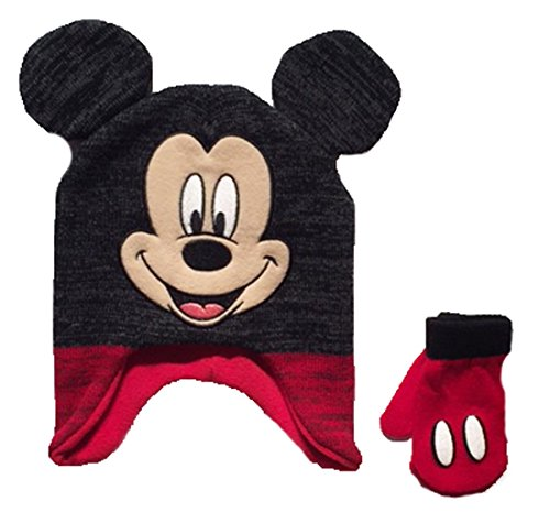 Mickey Mouse Baby Toddler Boys Winter Hat & Mitten Set