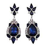 Cinderella Collection By Shining Diva Blue Crystal Stone Hanging Earrings