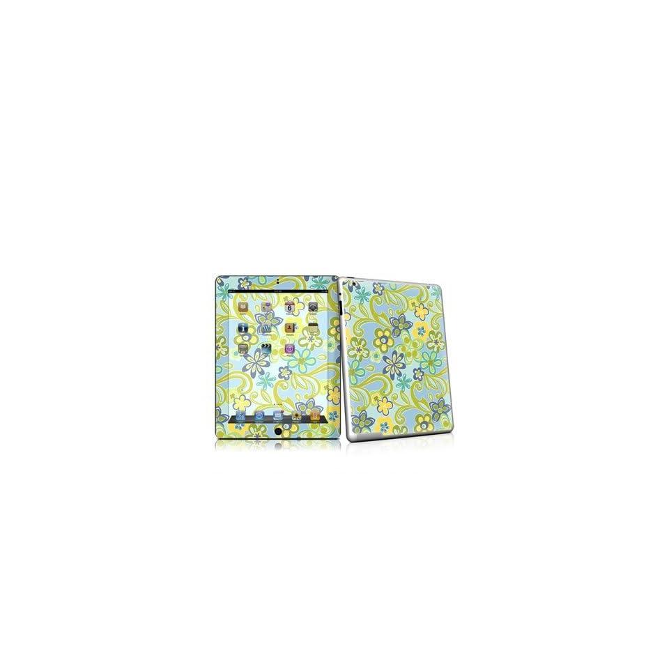 Hippie Flowers Blue Design Protective Decal Skin Sticker