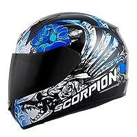 Scorpion EXO-R410 Novel Street Motorcycle Helmet (White/Purple, X-Large) from Scorpion