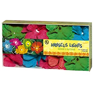 Click to buy Grasslands Road Multi Color Hibiscus Flower Patio Light Set from Amazon!
