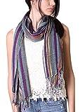 Women's Jewel Multicolor Stripe Glamour Scarf (Berry Dazzling)