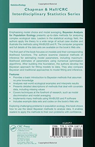Bayesian Analysis for Population Ecology (Chapman & Hall/CRC Interdisciplinary Statistics)