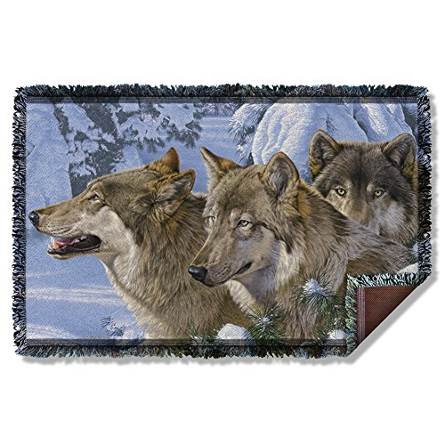 Wicked Tees WILD WINGS WINTER'S WARMTH 2 Woven Throw