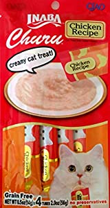 Ciao Churu Cat Treat Creamy Puree Bundle of 5 Packs (1 pack Chicken flavor, 1 pack Tuna with Chicken flavor, 1 pack Tuna flavor, 1 pack Chicken with Scallop flavor, 1 pack Tuna with Scallop Flavor)