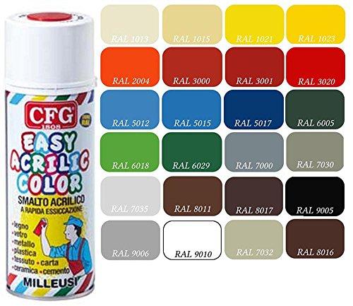cfg-spray-400ml-smalto-acrilico-milleusi-rapida-essiccazione-colore-rosso-traffico-ral3020