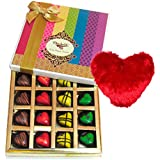 Chocholik Belgium Chocolate - Sweet Combination Of Chocolates With Heart Pillow