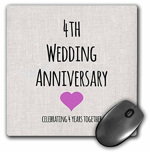 Celebrating 4 Years Of Togetherness Quotes: 3dRose 8 X 8 X 0.25 Inches 4th Wedding Anniversary Gift