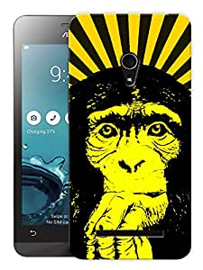 """Humor Gang Tripped Out Monkey Yellow Printed Designer Mobile Back Cover For """"Asus Zenfone 5"""" (3D, Matte, Premium Quality Snap On Case)"""