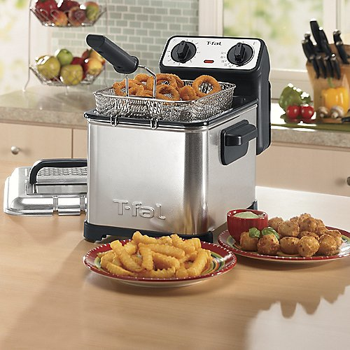 Find Discount T-fal FR4049 Family Pro 3-Liter Deep Fryer with Stainless Steel Waffle, 2.6-Pound, Silver