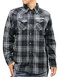 (ノートン) Norton 大きいサイズ メンズ シャツ チェックシャツ ネルシャツ 刺繍 ウエスタン 長袖 ワイシャツ 2color 3L ブラック