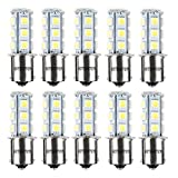 HOTSYSTEM 1156 7506 1003 1141 LED SMD 18 LED Bulbs Interior RV Camper White 10-pack