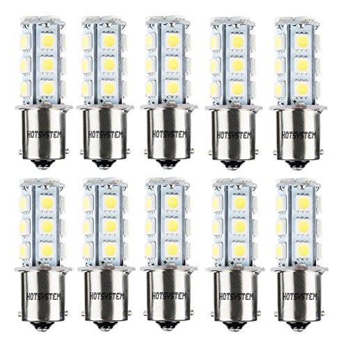 HOTSYSTEM 1156 7506 1003 1141 LED SMD 18 LED Bulbs Interior RV Camper White 10-pack (1156 Led Bulb compare prices)