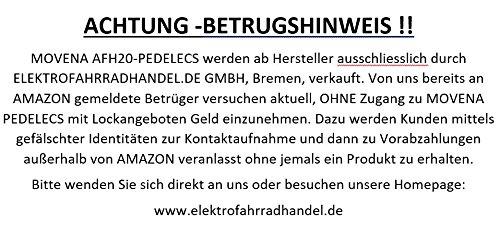 Pedelec MOVENA AFH20, 2 x TÜV geprüftes und zertifiziertes Elektrofahrrad Silber / Silber – 36V 15AH Akku, 20 Zoll Pedelec- Faltrad, Farbe Silber 36V 15AH AKKU ✔150 KM REICHWEITE ✔TOP Kundenservice