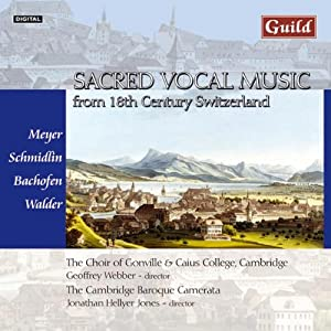 Sacred Vocal Music Form 18th Century Switzerland by Guild