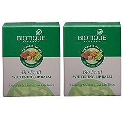 Biotique Bio Fruit Whitening Lip Balm (12g (Pack of 2)